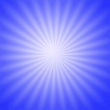 Blauwe radiale gloed Stock Foto's
