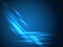 Blauwe Rechte lijnen abstracte vectorachtergrond Stock Foto