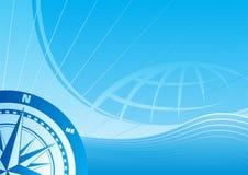Blauwe reisachtergrond Stock Foto
