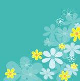 Blauwe retro bloemtextuur royalty-vrije illustratie
