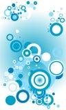Blauwe Retro Cirkels Royalty-vrije Stock Afbeelding