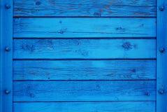 Blauwe Rijke Houten Achtergrond Royalty-vrije Stock Foto