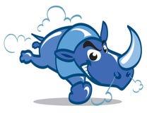Blauwe Rinoceros Stock Foto's