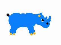 Blauwe rinoceros royalty-vrije stock foto's