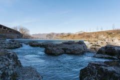 Blauwe rivier Stock Foto
