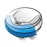 Blauwe robotachtige stofzuiger Stock Fotografie