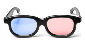 Blauwe rode 3D bioskoopglazen Royalty-vrije Stock Foto
