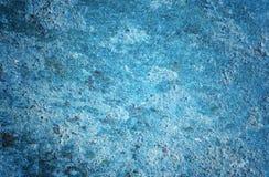 Blauwe roestige metaalachtergrond Royalty-vrije Stock Afbeeldingen