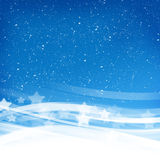 Blauwe rokerige golven Royalty-vrije Stock Fotografie