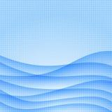 Blauwe rokerige golven Royalty-vrije Stock Afbeelding