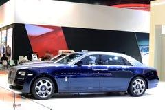 Blauwe Rolls Royce-luxeauto Stock Foto's