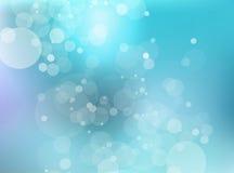 Blauwe romantische achtergrond Vector Illustratie