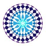 Blauwe ronde de wintermandala stock illustratie
