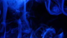 Blauwe rook die zich op adges mengen stock footage