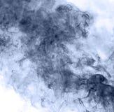Blauwe rook op een witte achtergrond inversie royalty-vrije illustratie