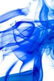 Blauwe rook op wit. Stock Afbeeldingen