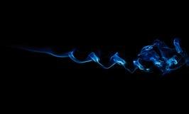 Blauwe Rook op Zwarte Royalty-vrije Stock Foto's