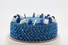 Blauwe roomcake Stock Afbeelding