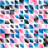 Blauwe roze zwarte samenvatting rond gemaakte mozaïekachtergrond Stock Foto's