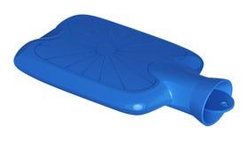 Blauwe rubber medische warm waterfles Royalty-vrije Stock Foto's