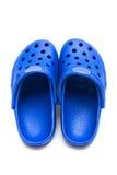 Blauwe rubberschoenen royalty-vrije stock afbeeldingen