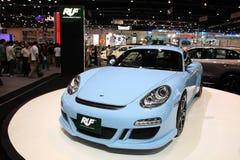 Blauwe RUF 987 in de 29ste Motor Expo Stock Fotografie