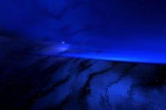 Blauwe ruimte stock foto