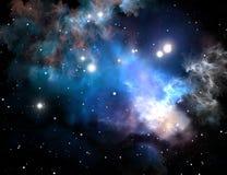 Blauwe ruimtesternevel Stock Foto