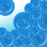 Blauwe samenvatting Stock Afbeeldingen