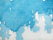Blauwe Samenvatting 4 van de Waterverf Royalty-vrije Stock Afbeelding