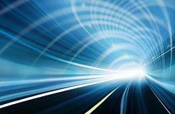 Blauwe Samenvatting vage snelheidsmotie Stock Afbeelding