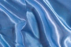 Blauwe satijntextuur Stock Fotografie