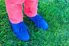 Blauwe schoenen Royalty-vrije Stock Foto's