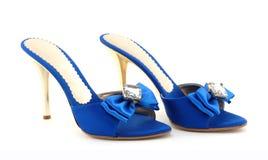 Blauwe schoenen Stock Foto
