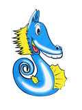 Blauwe seahorse Stock Afbeelding