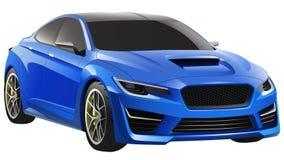 Blauwe Sedan Stock Foto's