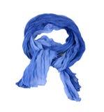 Blauwe sjaal stock foto