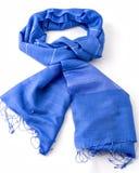 Blauwe sjaal of pashmina royalty-vrije stock fotografie