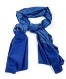 Blauwe sjaal van geïsoleerde pashmina stock afbeeldingen