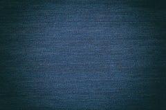 Blauwe sjofele dichte omhooggaand van de jeanstextuur Stock Foto