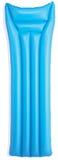 Blauwe slag - omhoog inflatablebed lilo   Stock Foto