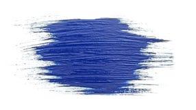 Blauwe slag van de verfborstel Royalty-vrije Stock Afbeelding