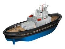 Blauwe sleepboot Stock Foto