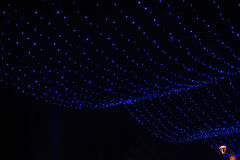 Blauwe Slinger in Kerstmisdecor van het de Winterpark Stock Afbeelding