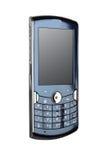Blauwe smartphone/mobiele telefoon Royalty-vrije Stock Foto's