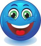 Blauwe smileyglimlachen Royalty-vrije Stock Afbeelding