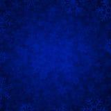 Blauwe sneeuw Stock Foto
