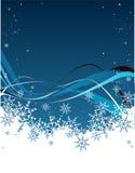 Blauwe sneeuw stock illustratie