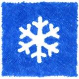 Blauwe sneeuwvlok Stock Afbeelding