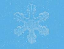 Blauwe sneeuwvlok royalty-vrije illustratie